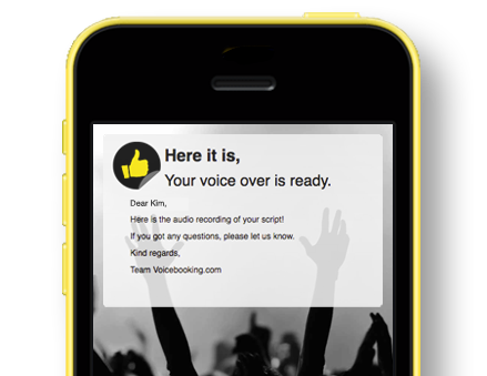 Receive your recording within 24 hours after briefing