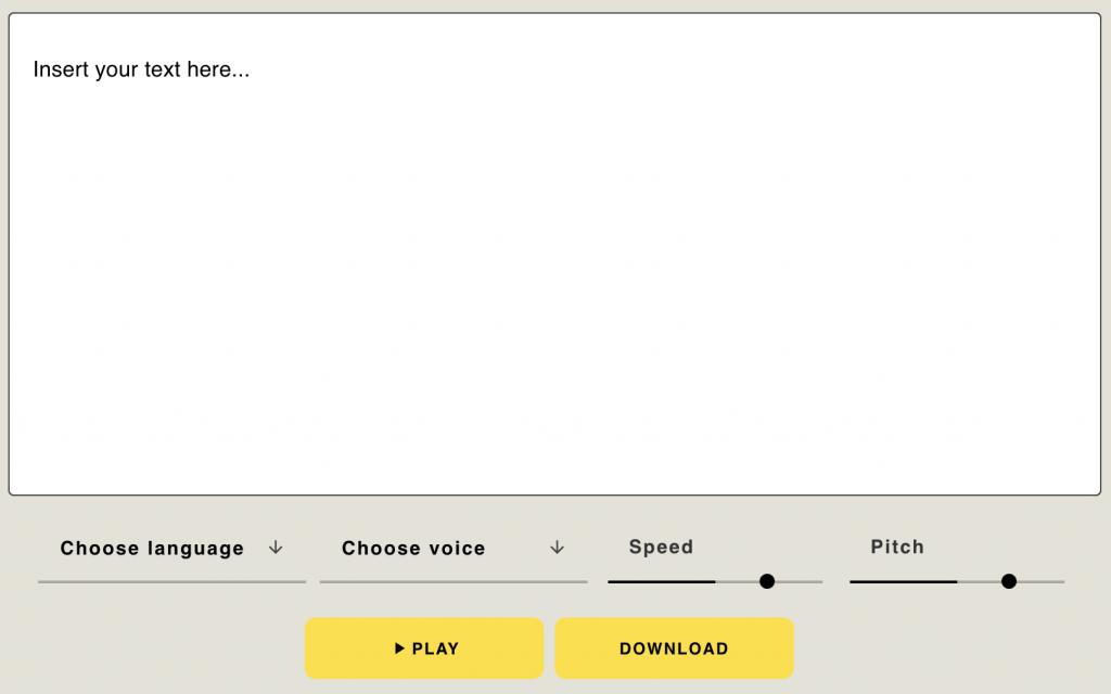 testez les voix masculines avec le générateur de voix off